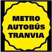 Metro, autobús y tranvía