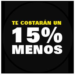 15% descuento en autobus