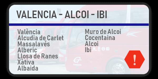 Incidencia - València - Alcoi - Ibi