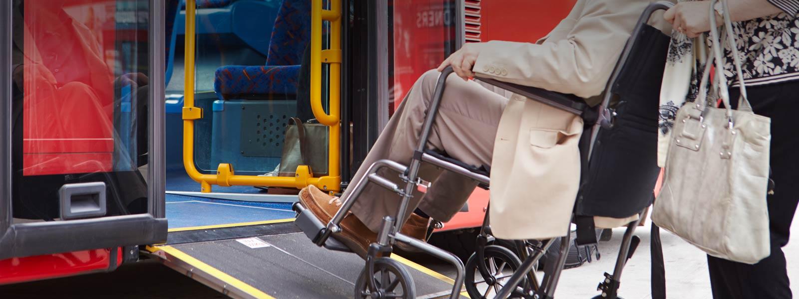 Servicio Autobus sin barreras Movilidad reducida